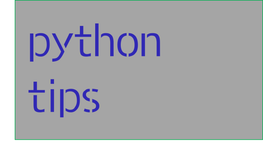 Pythonの学びメモと自分へのtips